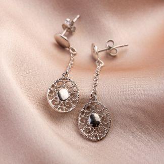 Moments silver earrings