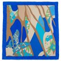 Gift: Blue Butterfly Squared L. Biagiotti Scarf an Bow