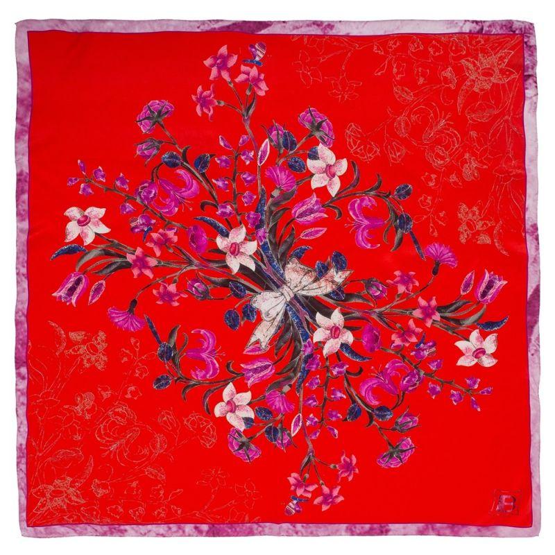 Flower Bouquet L. Biagiotti Squared Scarf