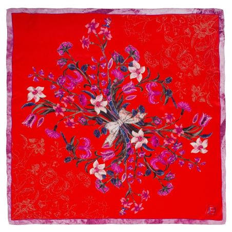 Flower Bouquet L. Biagiotti Squared Scarf