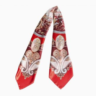 Gift Silk Scarf When In Rome red and bestseller Biblia Pierduta