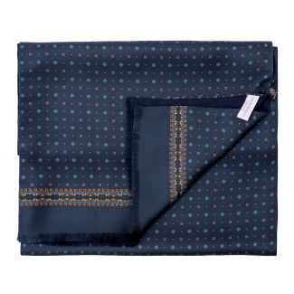 Gift Scarf Silk and wool Luton navy-bordo and bestseller Testamentul lui Abraham
