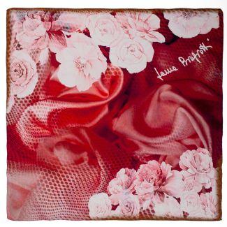Marsala Flowers L. Biagiotti Squared Scarf