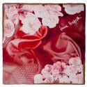 Gift: Marsala Flowers L. Biagiotti Squared Scarf