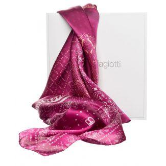 Gift: Purple Geometric L. Biagiotti Squared Scarf