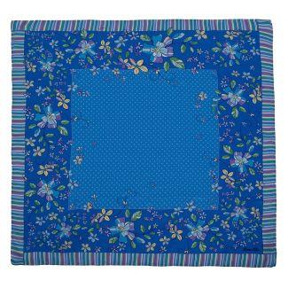Blue Dots Marina D'Este Squared Scarf