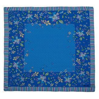 Eşarfă pătrată Marina D'Este bulinuţe fond blu