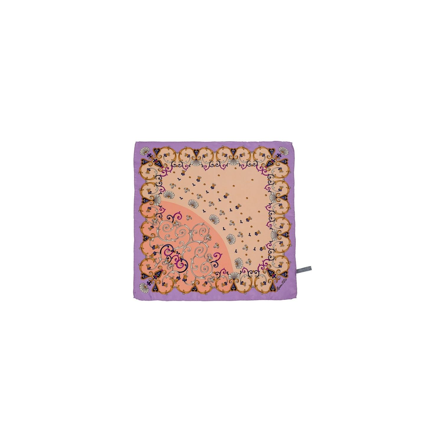 Marina D'Este pink and lilac lace Squared Scarf