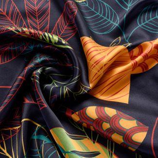 Silk scarf S Graphic Dance black