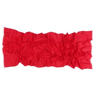 Esarfa lana si casmir Marina D'Este scarlet red