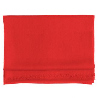 Wool and cashmere scarf Marina D'Este scarlet red
