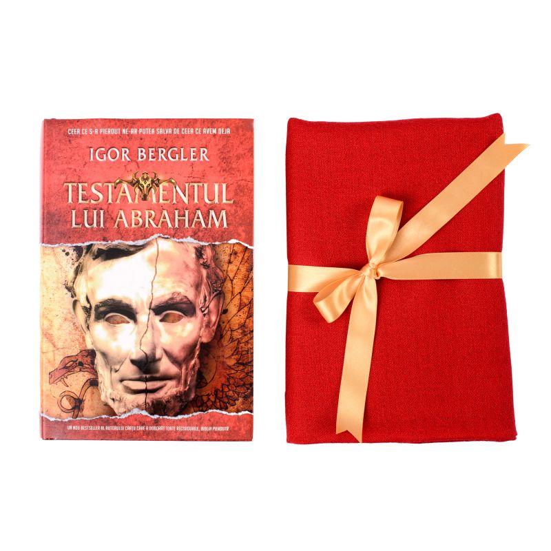 Set Esarfa lana si casmir scarlet red si bestseller Testamentul lui Abraham