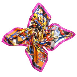 Silk scarf S Kisses from Capri apricot