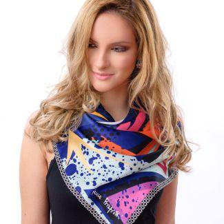 Silk scarf Electric Purple