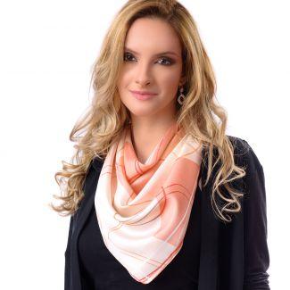 Silk scarf Coral Design
