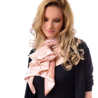 Silk scarf Gentle Touch somon