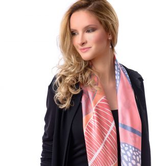 Silk scarf Cool Attitude Flamingo