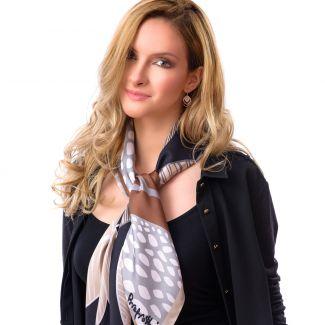 Silk scarf Cool Attitude Tawny