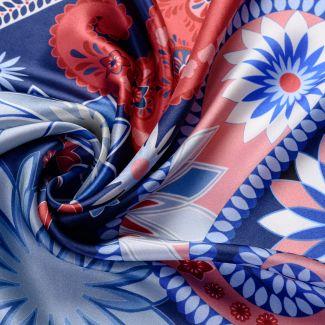 Silk scarf S Cityscape navy