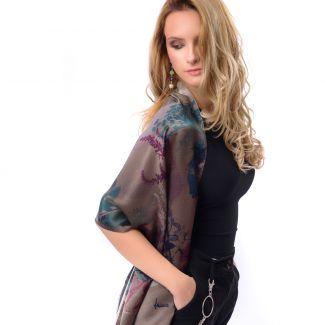 Silk shawl Autumn Symphony bronz