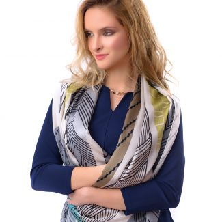 Silk shawl Milano Fashion Grey