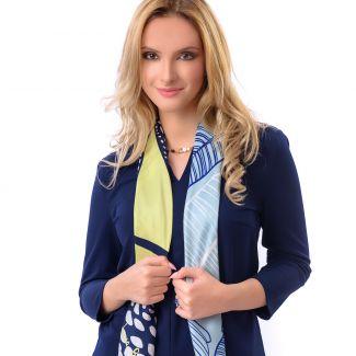 Silk scarf Cool Attitude Limette