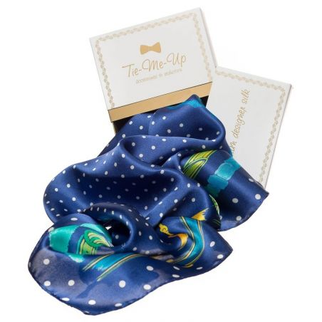 Gift: Blue Straps Mila Schon Squared Scarf