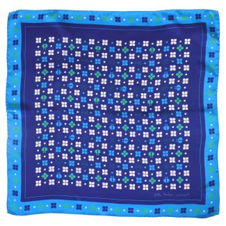 Mila Schon blue  Squared Scarf