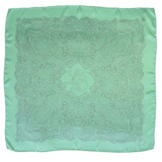 Laura Biagiotti silk scarf color green mint