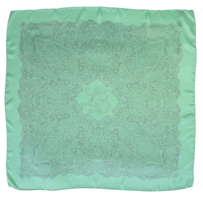 Laura Biagiotti silk scarf color green mint
