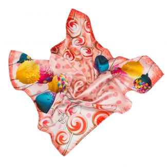 Silk Scarf Gaia sweets pink