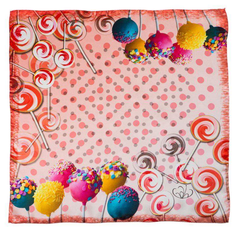 Esarfa matase naturala Gaia sweets pink