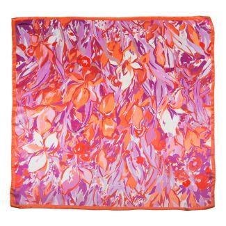 Silk Scarf Mila Schon irises coral