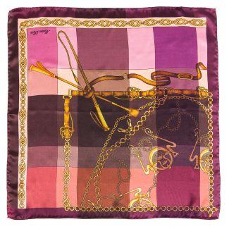 Silk Scarf Voyage purple