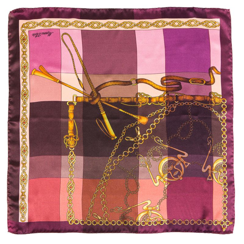 Silk Scarf Voyage purple