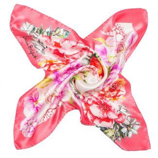 Esarfa matase naturala Laura Biagiotti spring flowers pink
