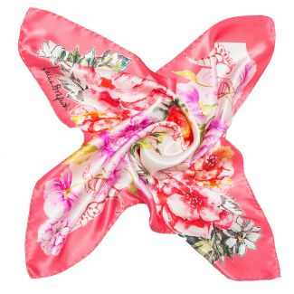 Silk Scarf Laura Biagiotti spring flowers pink