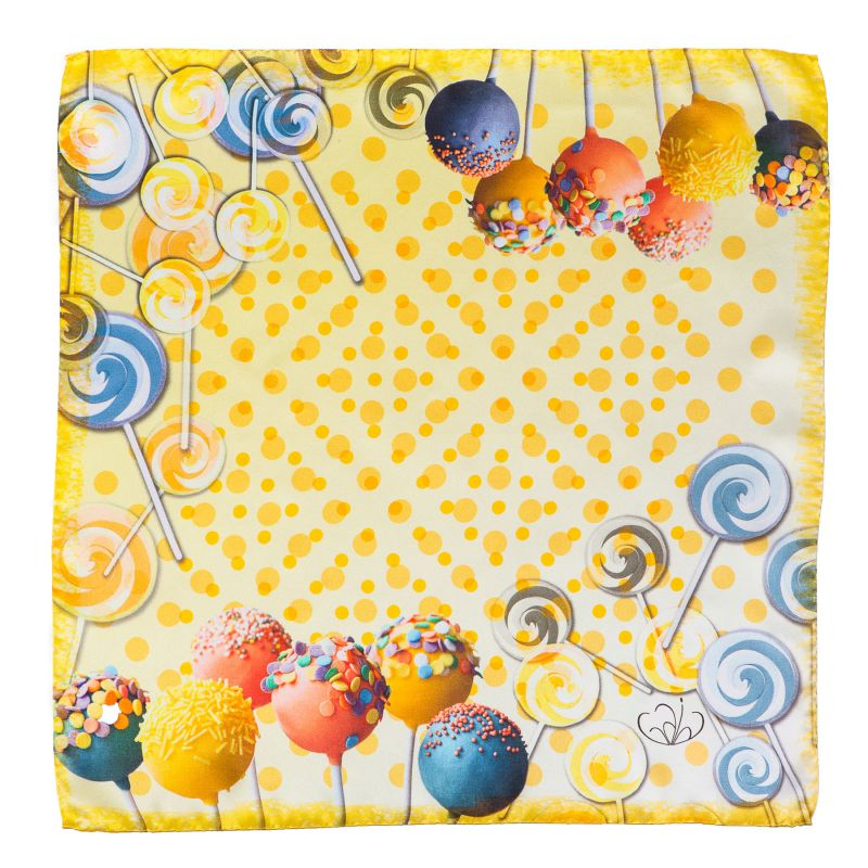 Silk Scarf Gaia Sweets yellow