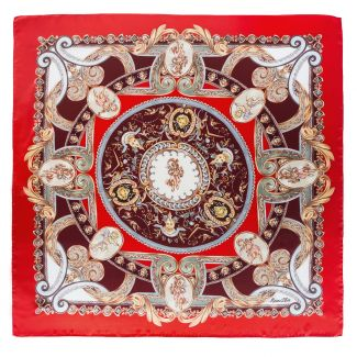 Silk Scarf Marina D'Este When In Rome red