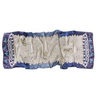 Silk Shawl Marina D`Este delicate blue
