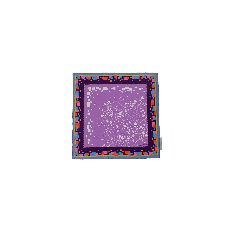 Eşarfă pătrată L. Biagiotti floricele fond lila