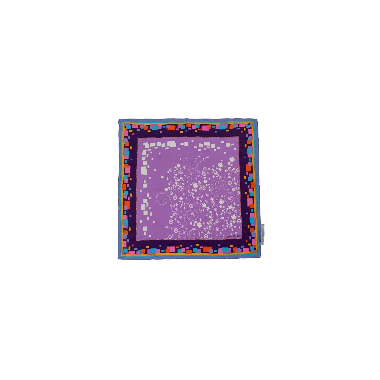 L. Biagiotti lilac flowers Squared Scarf