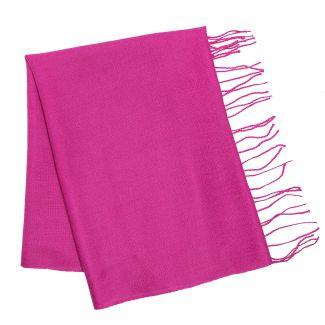 Esarfa lana si casmir Mila Schon pink plain