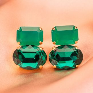 Cercei D&D Firenze Fashion cristals emerald