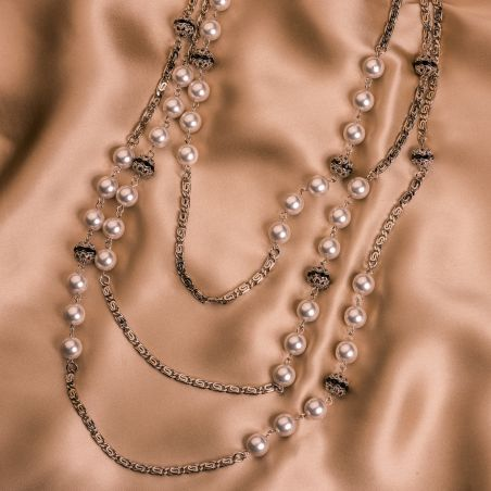 Colier D&D Firenze Pearls Statement white