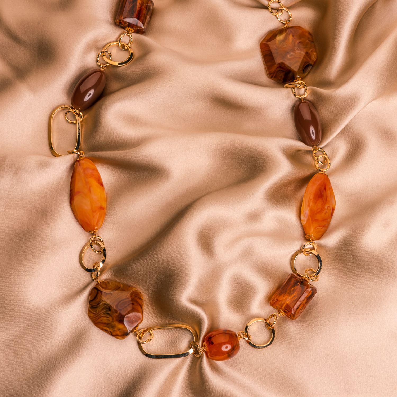 Colier D&D Firenze Amber Fantasy gold