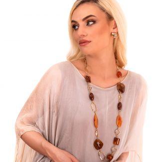 Necklace D&D Firenze Amber Fantasy gold