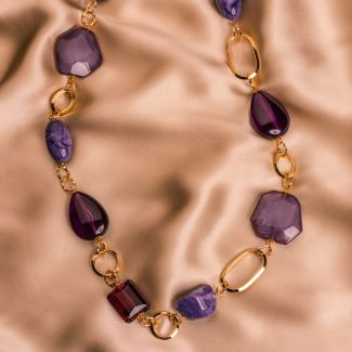Colier D&D Firenze Violet Obsesion gold