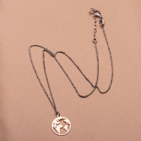 Sterling Silver Necklace Imagine the place small