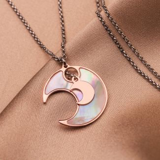 Sterling Silver Necklace Lucky Moons small